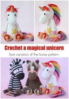 Crochet Unicorn Pattern- 32 Free Crochet Patterns - DIY & Crafts #CrochetPatterns