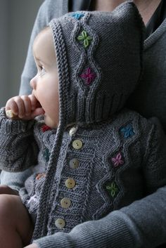 love the embroidery free #baby #knit pattern@ Af 13/1/13