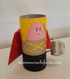 Come creare supereroi con i rotoli di carta igienica...Thor!  Superheroes toilet paper rolls DIy!