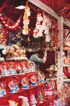 Christmas Market on Avenue des Champs-Élysées Paris, France 2013