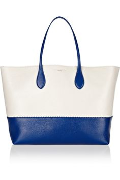 Rochas | Two-tone glazed-leather tote | NET-A-PORTER.COM