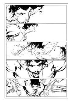 Filip Andrade's layouts for John Carter Of Mars