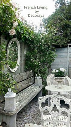 Amazing Shed Plans - i have never lowered my standards once in my life i never ever will Now You Can Build ANY Shed In A Weekend Even If You've Zero Woodworking Experience! Start building amazing sheds the easier way with a collection of shed plans! Vintage Garden Decor, Diy Garden Decor, Garden Decorations, Shabby Chic Garden, Small Vintage Garden Ideas, Cute Garden Ideas, Shabby Chic Porch, Vintage Gardening, Rustic Gardens