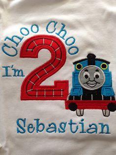 Thomas el tren cumpleaños camiseta por lsembroidery en Etsy