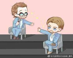 Tom Hiddleston and Chris Hemsworth<<This is too cute! I really needed this right now Thor X Loki, Marvel Art, Marvel Heroes, Marvel Avengers, Marvel Comics, Chris Hemsworth, Avengers Actors, Marvel Couples, Chibi