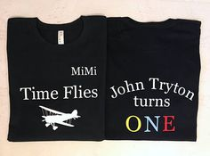 Time Flies Custom Matching shirts for Birthday Party Babies