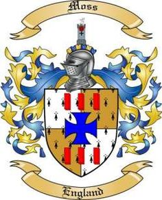 Moss Family Coat of Arms from England