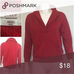 J CREW red shawl collar popover sleeve pullover Very cute pullover J. Crew Sweaters
