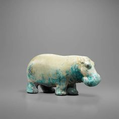 Egyptian Faience Statuette of a Hippopotamus. Culture : Egyptian. Period : Middle Kingdom (Dynasty 11–13, ca. 2040–1650 B.C.). Material : Faience.