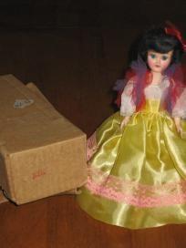 Blue Bonnet Argentina Vintage Plastic Doll