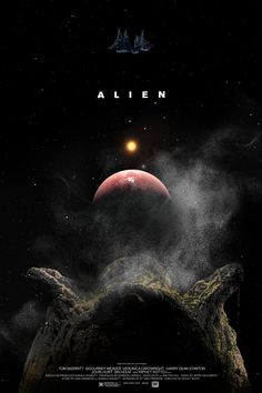Alien Poster - Created by Edgar Ascensão Alien Film, Alien 1979, Alien Art, Aliens Movie, Aliens And Ufos, Film Science Fiction, Saga, Alien Isolation, Alien Concept