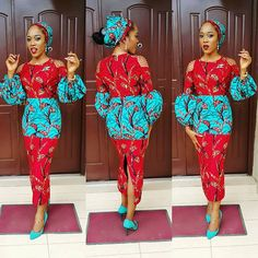 Latest ankara styles 2019 for ladies: check out Perfect and beautiful Ankara Styles For Wedding Party African Dresses For Women, African Print Dresses, African Attire, African Wear, African Women, African Prints, African Clothes, African Skirt, African Outfits