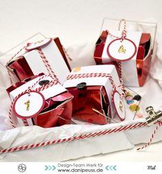 Familien Adventskalender aus Noodle Boxen Chinaboxen Bastelanleitung von Mel für www.danipeuss.de Scrapbooking Weihnachten Xmas Christmas DIY