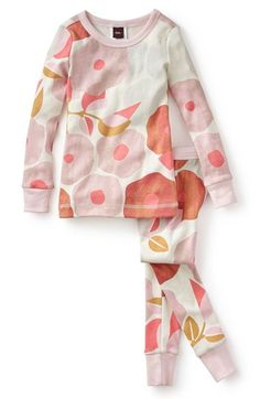 Tea Collection 'Tuscany Poppy' Fitted Two-Piece Pajamas (Toddler Girls & Little Girls) available at #Nordstrom