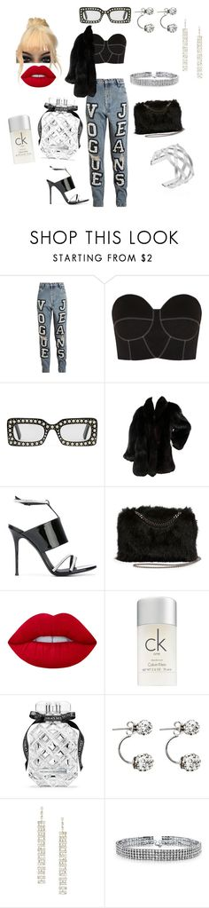"""This Has The Cookie Vibe"" by gigiglow ❤ liked on Polyvore featuring Ashish, Paper London, Gucci, Giuseppe Zanotti, STELLA McCARTNEY, Lime Crime, Calvin Klein, Victoria's Secret, Forever 21 and Bling Jewelry"