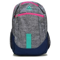 9892a24a36 Adidas Foundation IV Backpack Accessories (Grey Pink Blue Aqua)