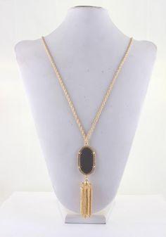 Pendant tassel necklace