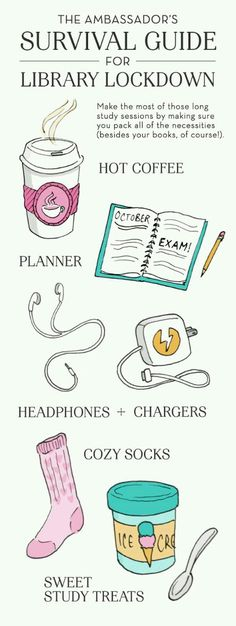 Bring these #study #essentials to make your library trip the most successful | sunygeneseo.tumblr.com