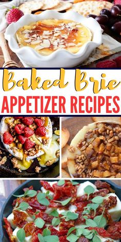 20 Baked Brie Appetizers to Serve at Your Next Wine Tasting Party via @aspiringwinos Baked Brie Appetizer, Bite Size Appetizers, Elegant Appetizers, Yummy Appetizers, Appetizers For Party, Appetizer Recipes, Wine Appetizers, Cheese And Wine Tasting, Wine And Cheese Party