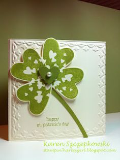 Sprinkled Expression for St. Patty's card.