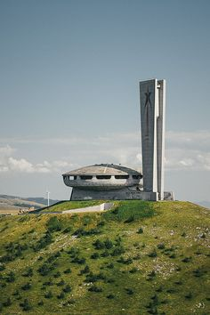 Buzludzha Monument, Bulgaria by СмdяСояd, via Flickr ( monument is placed where the final battle between Bulgarian rebels led by Hadji Dimitar and Stefan Karadzha[1] and the Ottoman Empire happened