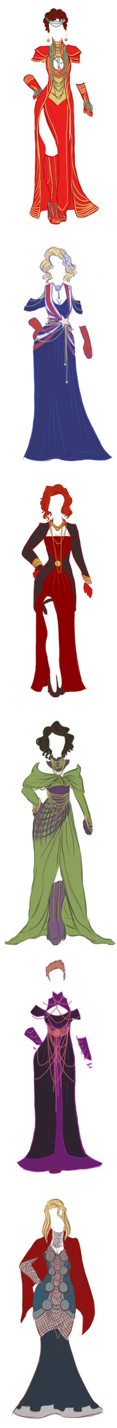 Marvel Avengers Evening Gown Designs