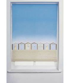 Buy Beach Hut 3ft Roller Blind - Multicoloured at Argos.co.uk - Your Online Shop for Blinds. Blinds For Windows, Curtains With Blinds, Beach Design, Roller Blinds, Window Stickers, Argos, Coastal Living, Seaside, Cottage