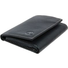 card slot Timberland Men/'s Saddle Leather Wallet Black//Brown Gift box 2 windows