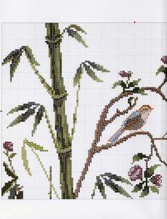 ru / Photo # 1 - 01 - the Ka Cross Stitch Cushion, Cross Stitch Bird, Cross Stitch Flowers, Counted Cross Stitch Patterns, Cross Stitching, Birds, Blog, Cushions, Gingham