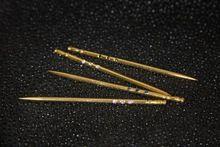 24K Gold Vermeil Toothpick with Gemstones