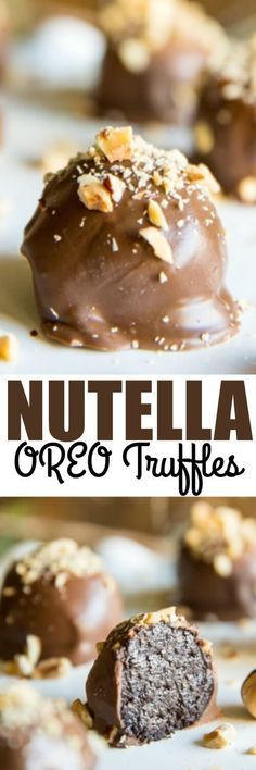 It only takes 4 ingredients to make No Bake OREO Nutella truffles. These classic cookie balls have a sweet hazelnut spread and are perfect for the holidays!