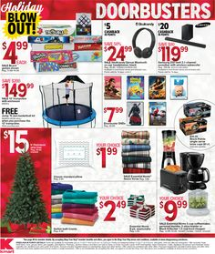 Kmart Black Friday 2017 Ads and Deals Offering hot Black Friday deals and specials online and in-store, this sale is yet another event you sure don't want to miss. Last year, we saw BOGO. Basketball Kit, Black Friday Deals, Kmart Coupons, Ads, Store, Larger, Shop