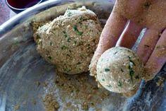 Cómo preparar Falafel de harina de garbanzo y sésamo - cookcina