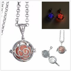 Find More Pendant Necklaces Information about Glow in the Dark Hollow Openable Cage Locket Pendant With Rolo Chain Fluorescence Necklace Jewelry,High Quality glow in dark,China glow in the dark Suppliers, Cheap glow in the from Winslet&Jean on Aliexpress.com