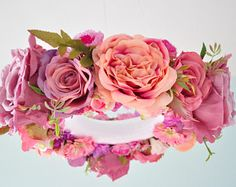 Flower mobile,Floral mobile,Floral Chandelier,NurseryMobile,Baby mobile,Gift,Purple,Baby chandelier,floral decoration,Wedding chandelier