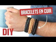Vidéo DIY présentant 3 techniques de tressage pour réaliser des bracelets en cuir pour homme. Une super idée de cadeau DIY pour homme! tresses 4 à 6 brins.