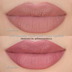 The Nudes Sandstorm & Soft-Spoken @nyxcosmetics Liquid Suede Cream Lipsticks Coming this Fall ________________________________ *Photos were taken after product was completely dry to show they are liquid to matte lipsticks* ▶Individual Reviews These two particular shades applied beautifully and are highly pigmented. The drying time for Sandstorm was 4mintues for me but for Soft-Spoken, the set up time was 2mintues but the time to dry completely to no longer be tacky was 30mins. I actually ...