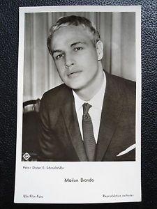 Marlon-Brando-original-ufa-AK-photo-carte-postale-photo-postcard-cartolina-50er-ans