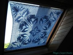 """I used the Herbert Niebling """"Chrysantheme"""" tablecloth as a curtain for the bedroom window. I used about 350 g of the Czech thread """"Skarlet"""", the knitting needles were 3 mm."""