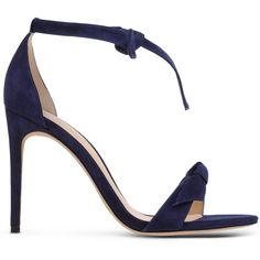 Alexandre Birman Sandals ($415) ❤ liked on Polyvore featuring shoes, sandals, dark blue, alexandre birman, leather sole sandals, alexandre birman shoes, dark blue shoes and real leather shoes