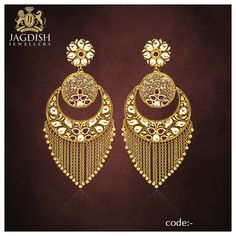 Portfolio of Jagdish Jewellers Pearl Necklace Designs, Jewelry Design Earrings, Gold Earrings Designs, Antique Jewellery Designs, Fancy Jewellery, Gold Bangles Design, Gold Jewellery Design, Gold Jewelry Simple, Stylish Jewelry