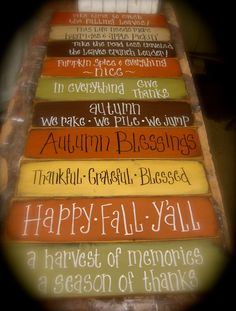 Fall at Fine and Dandelion, LLC. Like us on Facebook! Fall Wood Crafts, Autumn Crafts, Thanksgiving Crafts, Fall Halloween, Halloween Crafts, Primitive Fall, Primitive Decor, Fall Signs, Fall Pallet Signs