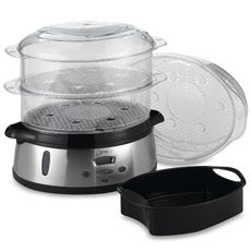 Deni Stainless Steel Three-Tier Food Steamer - Bed Bath & Beyond