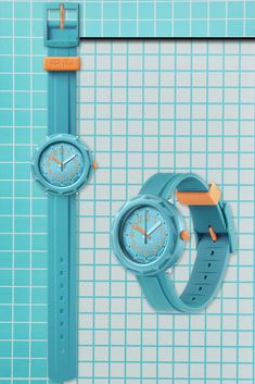 ACQUALICIOUS (ZFCSP100) will be spotted from across the playground thanks to its totally radical solid turquoise case, rotating bezel and strap. Vibrant orange touches complete the look on this Swiss watch for kids which is guaranteed to make it cool to learn to tell the time! A gift for kids that will turn you into a super star. Swiss Watch, Telling Time, Super Star, Wood Watch, Playground, Gifts For Kids, Swatch, Vibrant, Turquoise