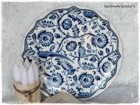♥ Teller PAULINE blau/weiß mit Vogel♥ - Artikeldetailansicht - Lavendelherzl