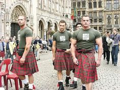 Muscle in a kilt! I'll take the one on the right, please...