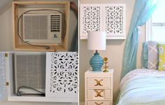 How to Hide an Ugly AC Unit With Removable DIY Shelf | Times, Los ...