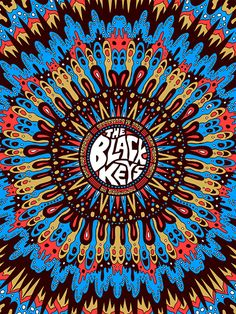 The Black Keys / Cage The Elephant gig poster by Nate Duval Rock Posters, Band Posters, Concert Posters, Retro Posters, Festival Posters, Movie Posters, Hippie Style, Hippie Music, Hippie Gypsy
