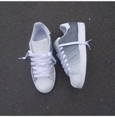There are 3 tips to buy these shoes: adidas superstars adidas ombre superstar grey white adidas adidas adidas originals sneakers white sneakers white grey faded adidas women trainers sneakers style berlin. Adidas Shoes Women, Nike Women, Adidas Sneakers, White Sneakers, Adidas Outfit, Shoes Sneakers, Women's Shoes, Sneakers Style, Roshe Shoes
