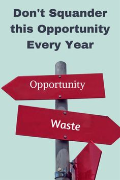 Don't squander this opportunity every year via @apathyends